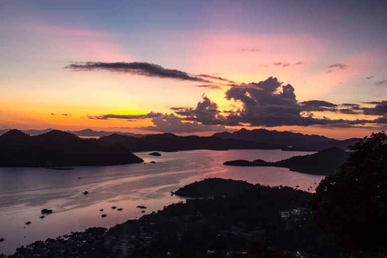 Mount Tapas Sunset Views Coron Palawan Philippines