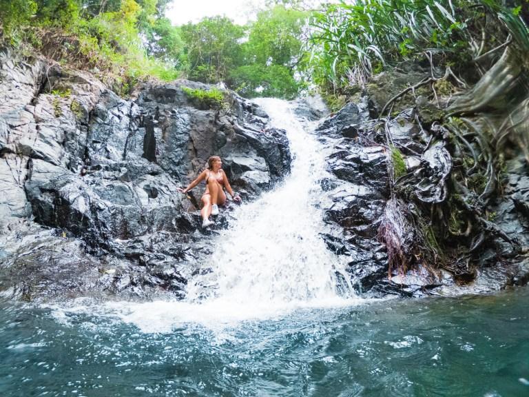 Nagkalit-kalit Waterfalls Lower El Nido Palawan Philippines