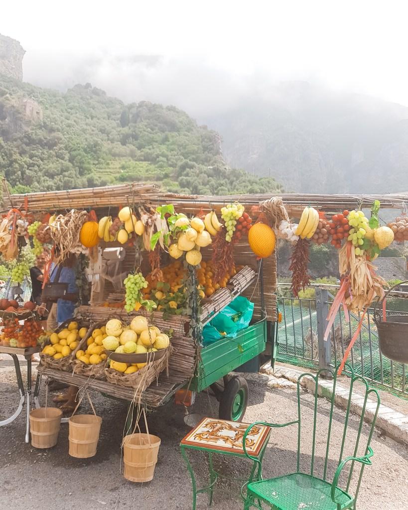 Salvatores Fruit Stand Positano Italy