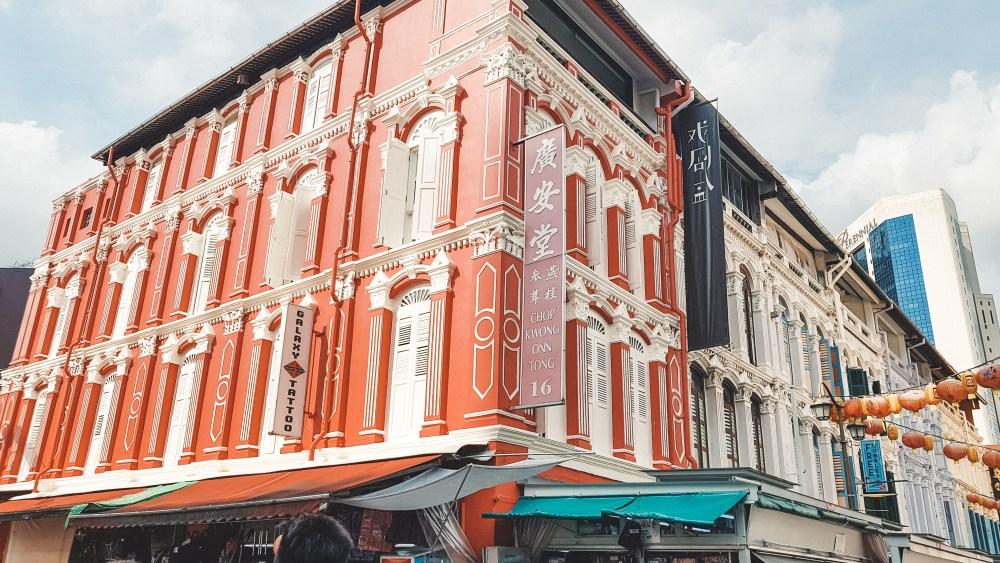 Chinatown Buildings Singapore Asia