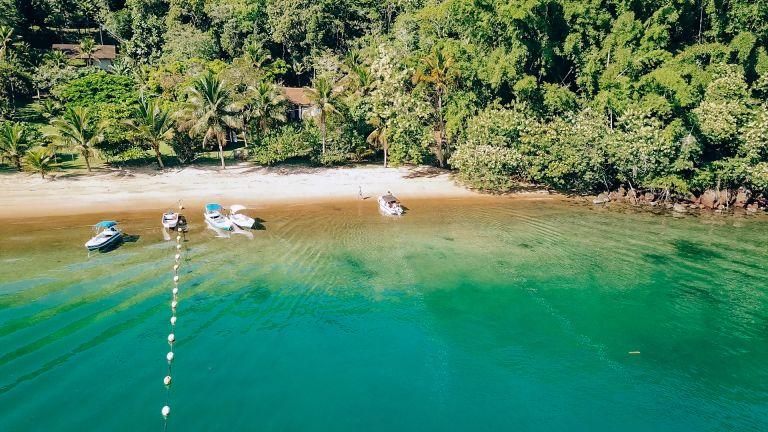Ilha Grande Rio de Janeiro Brazil Beached Boats