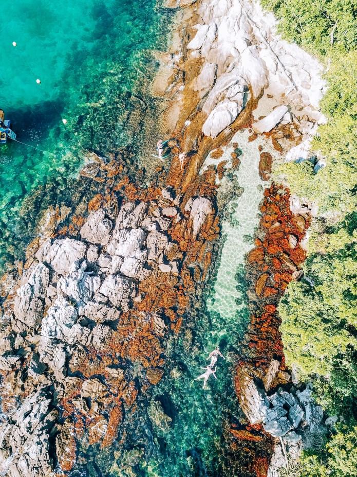Ilha Grande Rio de Janeiro Brazil Lagoa Azul Drone