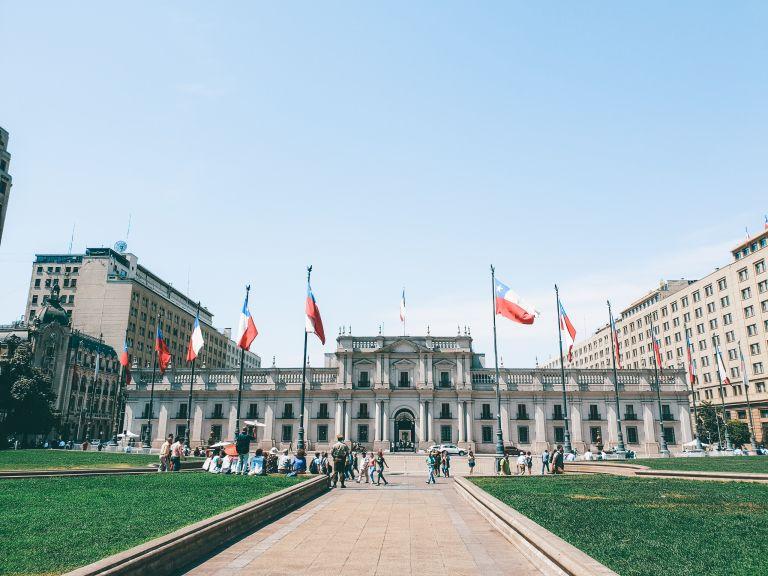 La Moneda Palace Constitution Plaza Santiago Chile South America