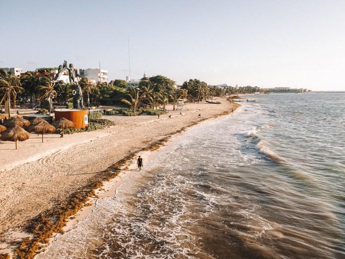 Beach Playa del Carmen Mexico North America