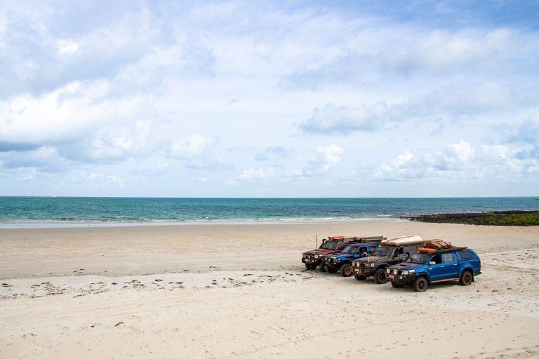 Beach 4WD Cape York Queensland Australia
