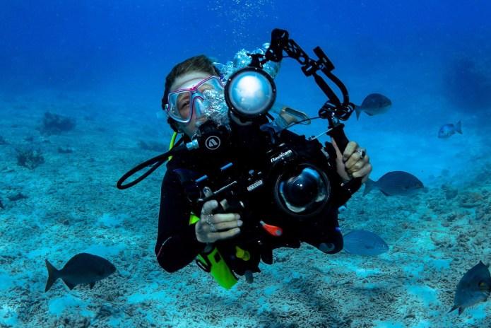 Underwater Photographer Great Barrier Reef Cairns Queensland Australia
