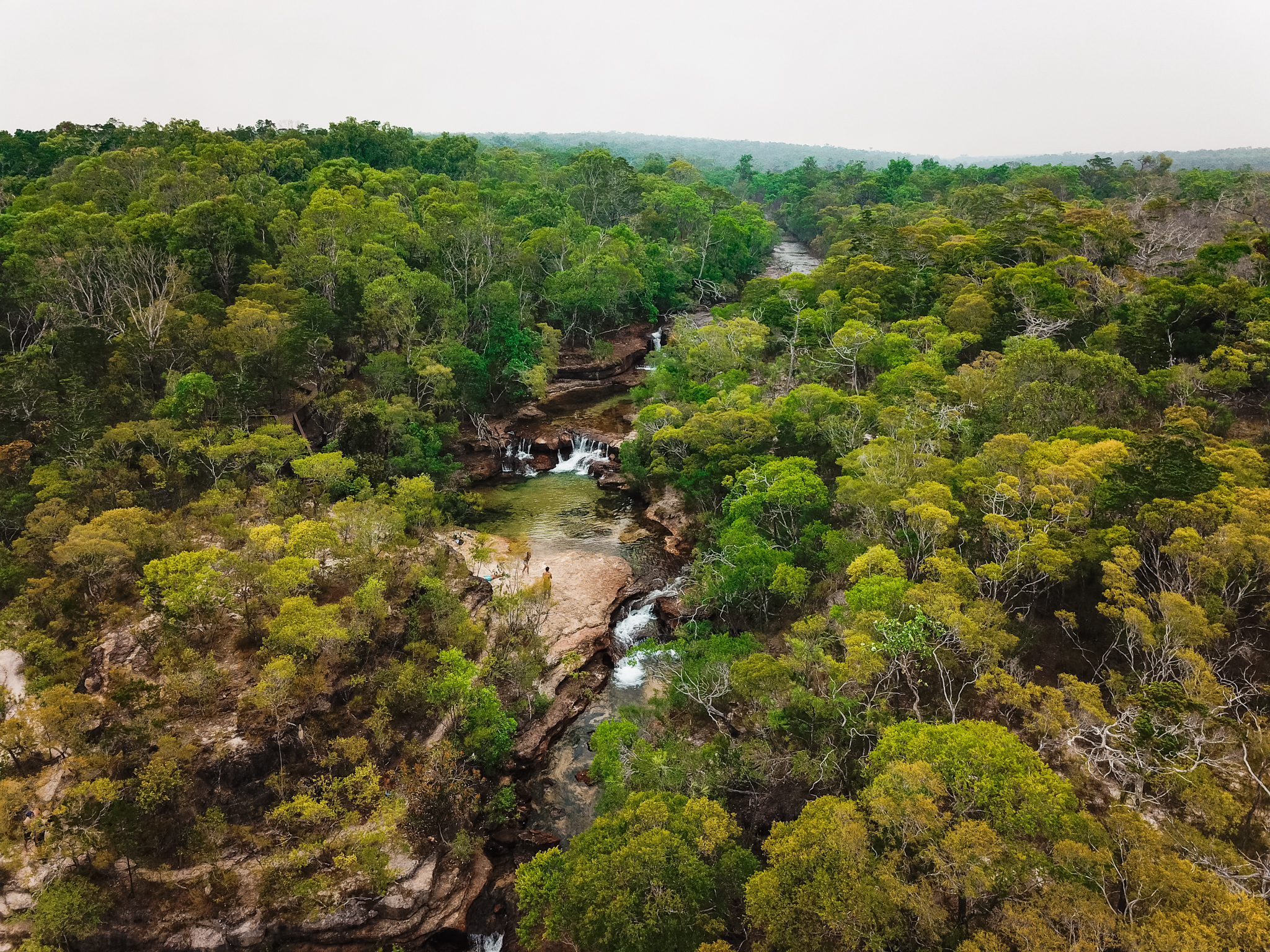 Droning Twin Falls Cape York Queensland Australia