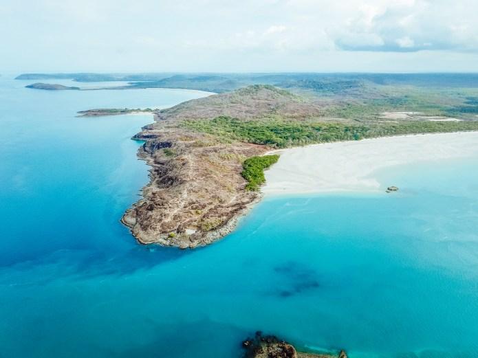 Drone Tip of Australia Cape York Queensland