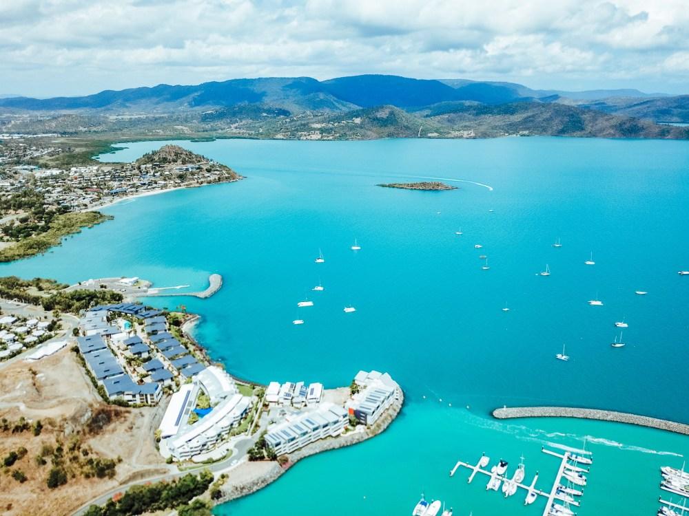 Airlie Harbour Queensland Australia Drone