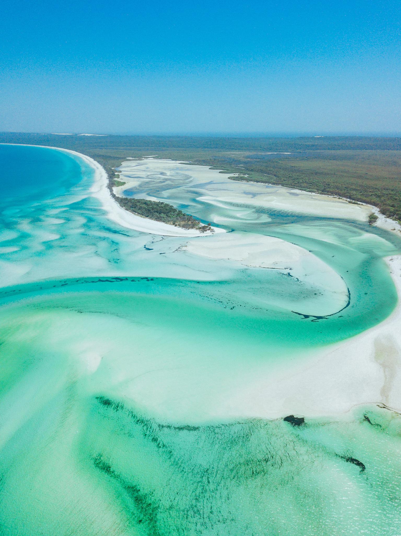 Wathumba Creek Fraser Island Queensland Australia Aerial