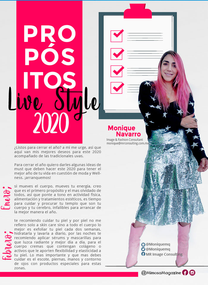 Propósitos Live Style 2020, Revista Mimosa