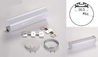 LED - banda & accesorii Profil led aluminiu PXG-  60/2 – rotund/suspendat/2m