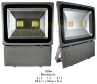 Lichidare de stoc Proiector  LED  100w (2x50w) 6400k – gri  *TV 0,25ron