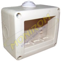 Doze electrice MDL – Doza aplicata IP40 – 3module (tip 27003)