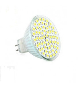 LED - Lichidare de stoc Bec Led – MR16 12v/60SMD 6400k  *TV 0,25ron