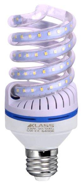 LED - Lichidare de stoc Bec Led – Klass spirala E27/12w 6400k  *TV 0,25ron