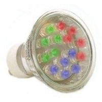 LED - Lichidare de stoc Bec Led – GU10 230v/18pcs  CHANGE COLOR  *TV 0,25ron