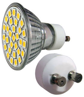 LED - Lichidare de stoc Bec Led – GU10 230v/30pcs/SMD3528  2700k  *TV 0,25ron