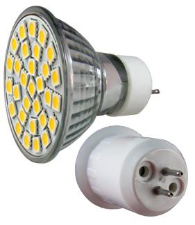 LED - Lichidare de stoc Bec Led – MR16 230v/30pcs/SMD3528  2700k  *TV 0,25ron