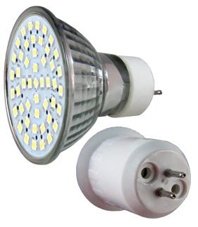 LED - Lichidare de stoc Bec Led – MR16 230v/48pcs/SMD3528  6400k  *TV 0,25ron