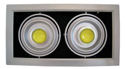 LED - comercial/office Spot Led reglabil DD 2x10w/2700k (montaj ingropat)  *TV 0,25ron
