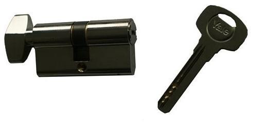 ASSA ABLOY / URBIS / FERONERIE Yale 1000CA K Cilindru amprenta 27,5×32,5 cu buton