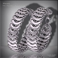 Men's Day 2: Waves Mens Bracelet - Brushed Nickel