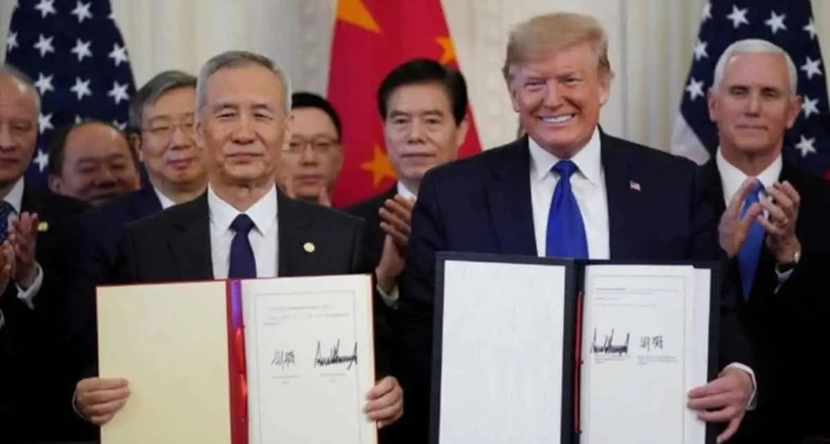 """EEUU y China aseguran """"éxito"""" de su acuerdo comercial, Ambas partes sostuvieron un contacto telefónico en el que se acordó continuar..."""