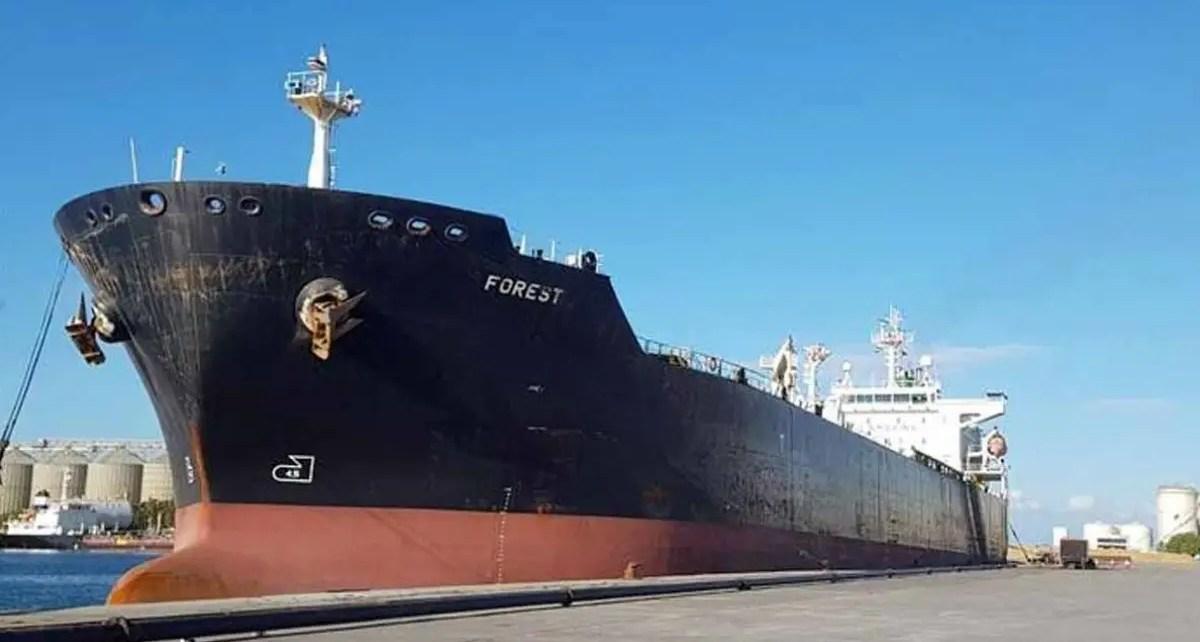 El buque iraní Forest atracó en El Palito