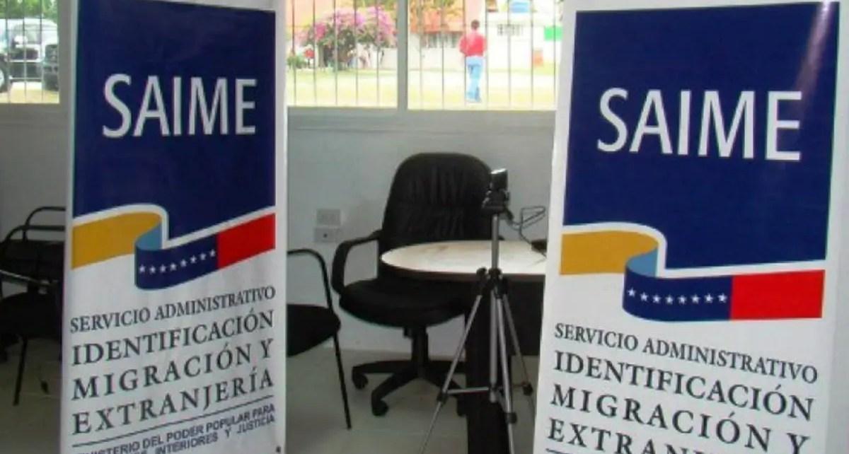 El Servicio de Administración, Identificación, Migración y Extranjería, (SAIME) investigará los pasaportes que mantengan una fecha de abril