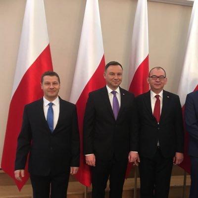 Sędziowie Piotr Schab i Przemysław Radzik na spotkaniu z Prezydentem RP Andrzejem Dudą, 7 grudnia 2018 r.