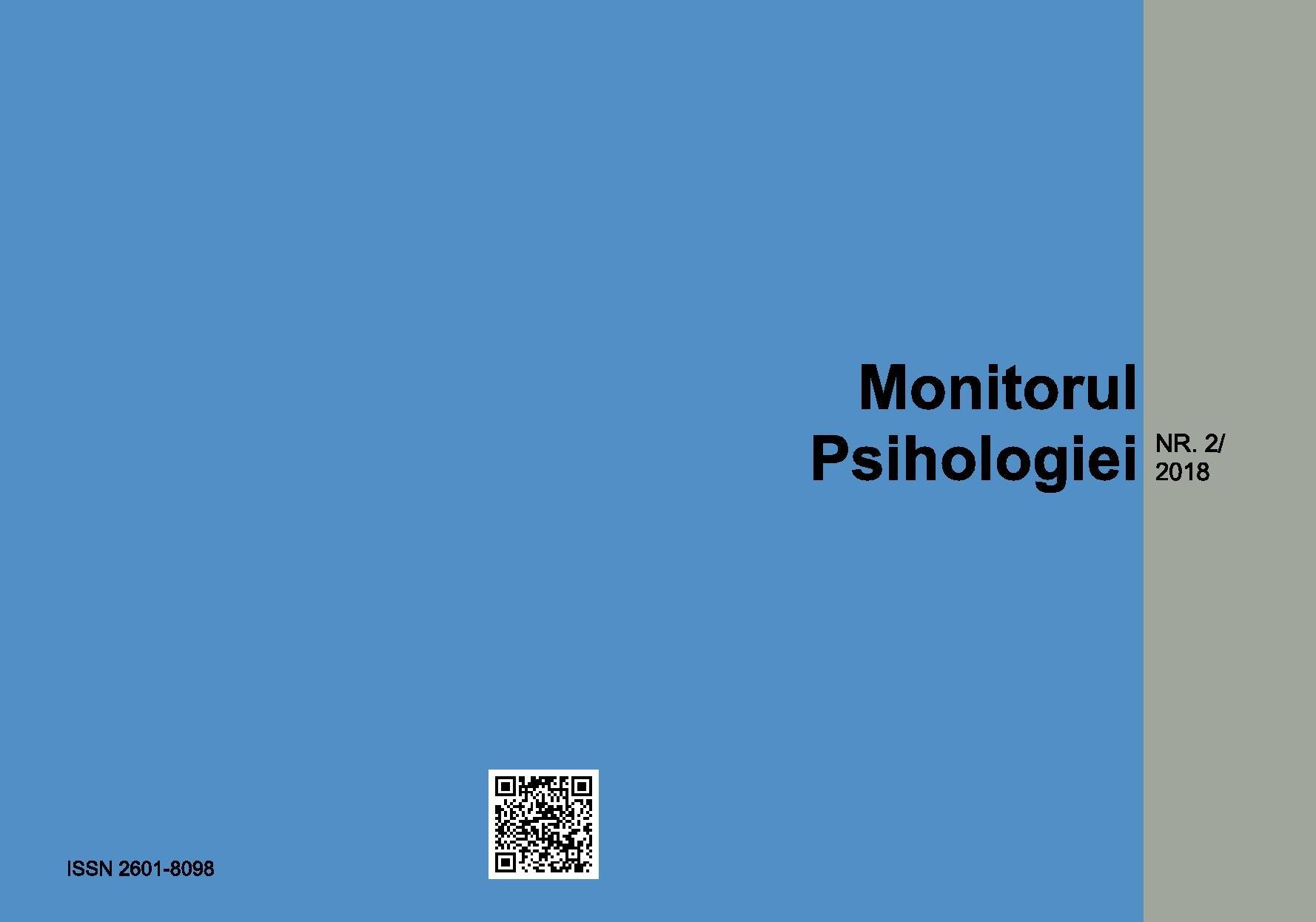 Revista Monitorul psihologiei #2.coperta
