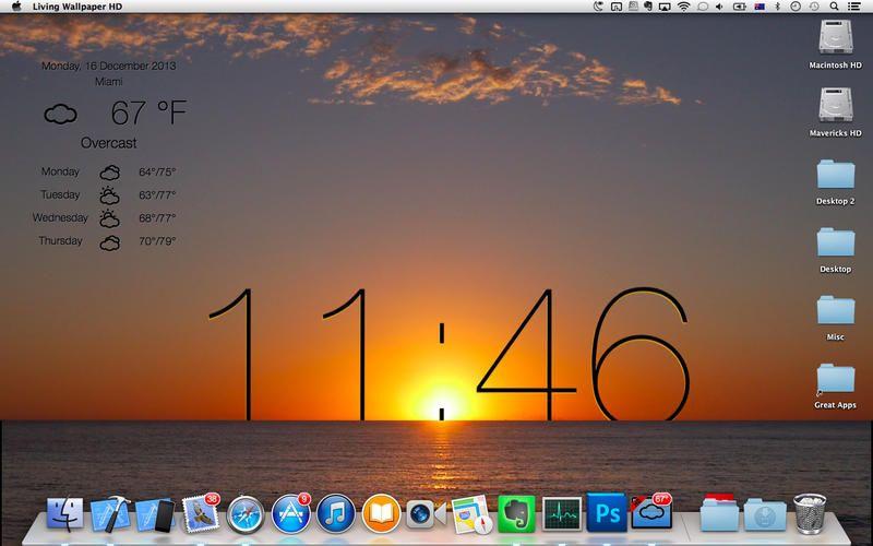 погода на экране Mac OS