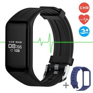 Fitness Tracker Smart Band Continuous Heart Rate Monitor, MGCOOL B3 Activity Tracker Swim Waterproof Bracelet Sleep Monitor, Smart Watch Sport Stopwatch Christmas Gift 2 Straps Black Blue