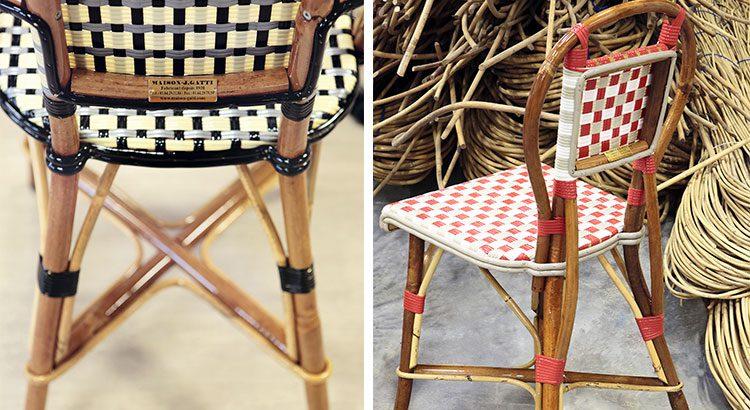 chaises bistrot rotin maison