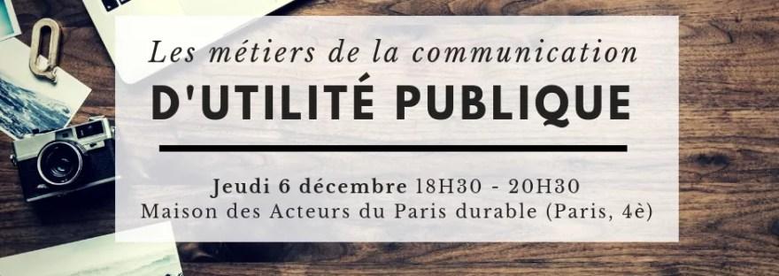 Métiers de la communication d'utilité publique