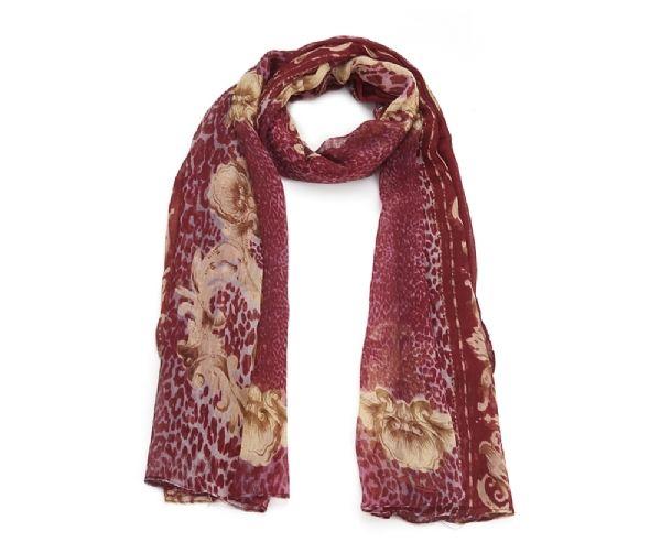 foulard_leopard_bordeaux_chale_motif_hijab