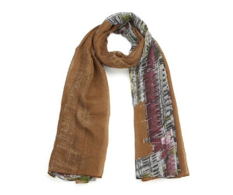 foulard_motif_urbain_italie_marron_chale