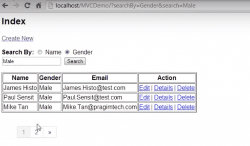 Index view with Query Parameters