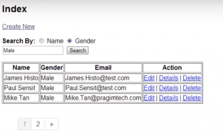 Gender Selected Radio Button