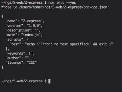 package.json file in node.js