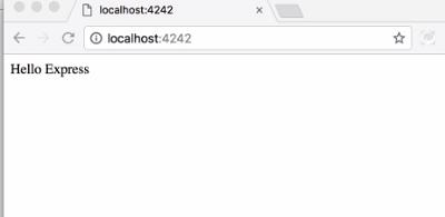 run  express server in node.js