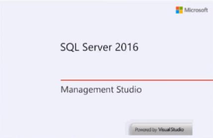 Create Database using SQL Server 2016.