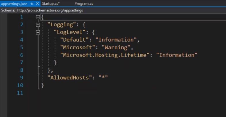 appsettings.json in asp.net core