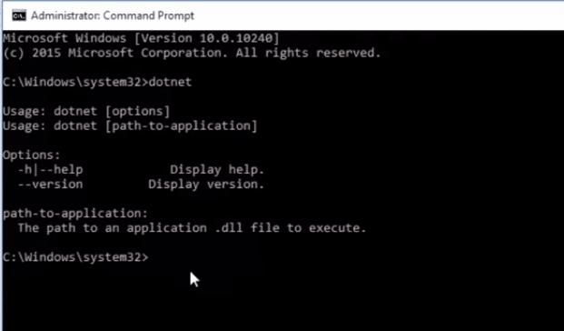 dotnet cli command install