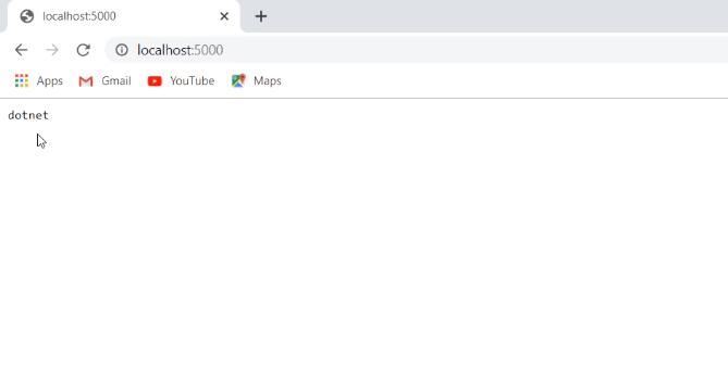 dotnet output on asp.net core