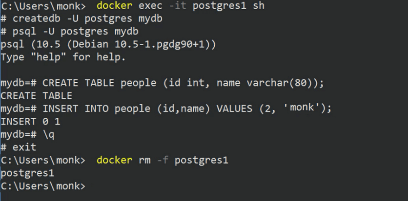 docker remove command