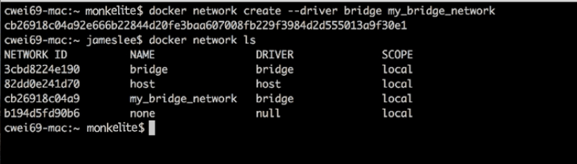 docker network bridge