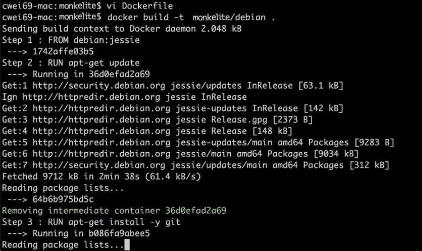 running Dockerfile
