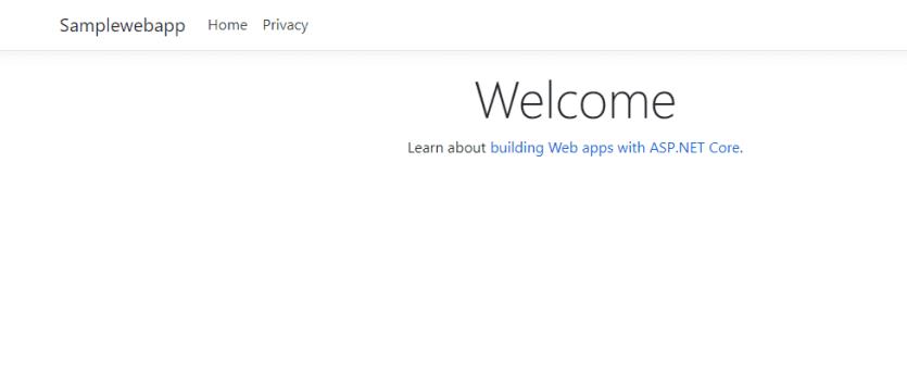 ASP.NET Core application localhost